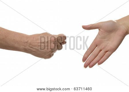 Fig hand sign isolated