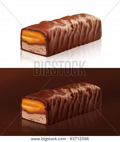 Chocolate bar with clipping path