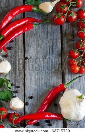 Chili, Tomato And Garlic