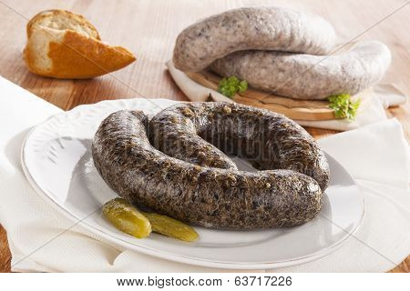 Blood Sausage And Rice Sausage.