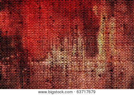 Grim Vintage Burlap Textured Fabric Texture, Old Rustic Canvas Background