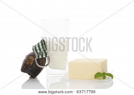 Traditional Dairy Still Life.