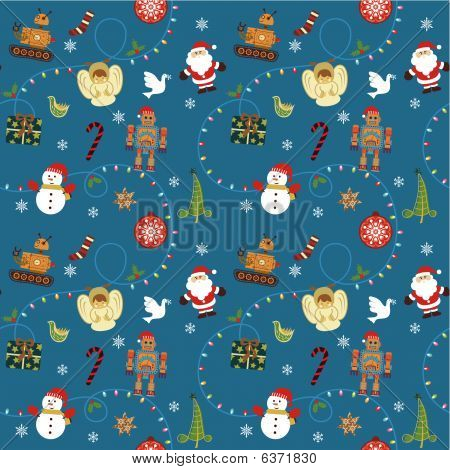 Christmas Toys Seamless Pattern