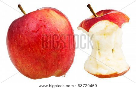 Bitten Apple And Whole Wealthy Apple