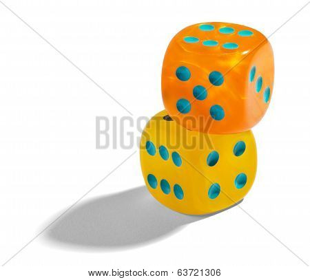 Yellow And Orange Dice
