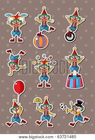 Clown Stickers