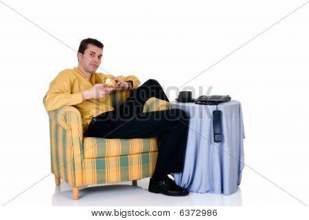 Businessman Home Sofa