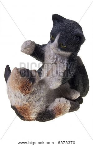 Figurine of two cats