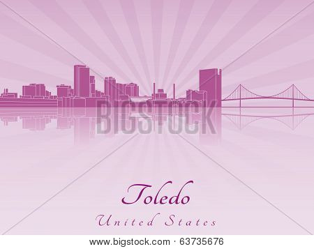 Toledo Oh Skyline In Purple Radiant Orchid