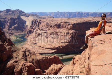 Man On Cliff Edge