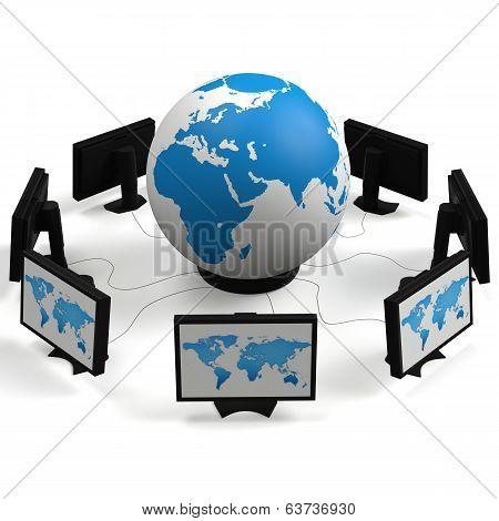 Globe On Monitors