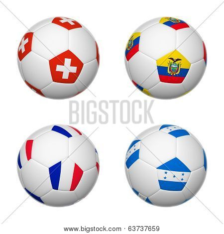 Soccer Balls Of Brazil 2014, Group E