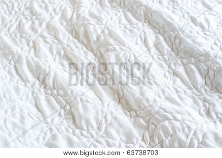 Crumpled White Blanket