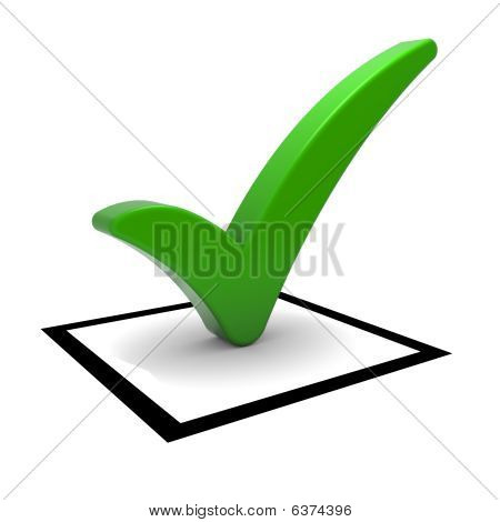 Green Tick Symbol