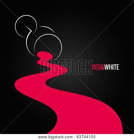 spilled wine glass design background