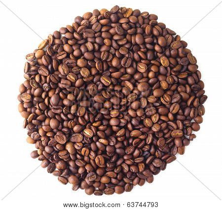 Circle from Coffee beans