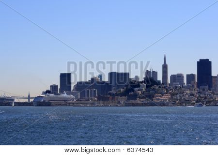 Cruise Ships On San Francisco Bay