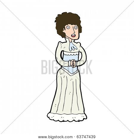 cartoon shocked victorian woman