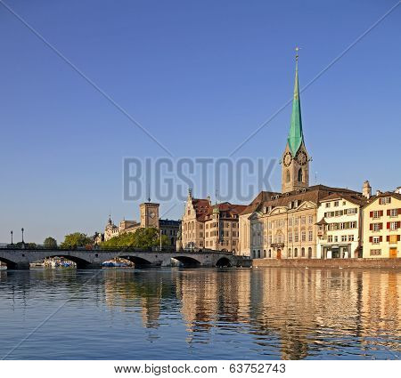 Zurich, the Lady Minster cathedral