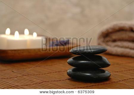 Symbolic Zen Inspired Stone Kern In A Spa
