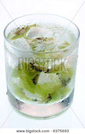 Kiwi In Lowball Glass