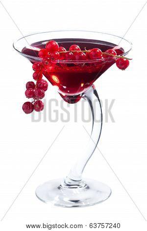 Redcurrant martini cocktail