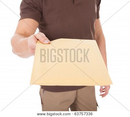 Young Man Delivering Mail
