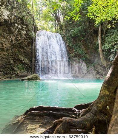 Tropical waterfall Erawan