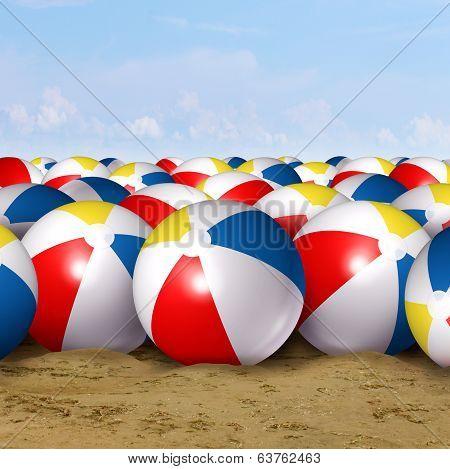 Beach Ball Background