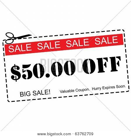 Fifty Dollars Off Sale Coupon