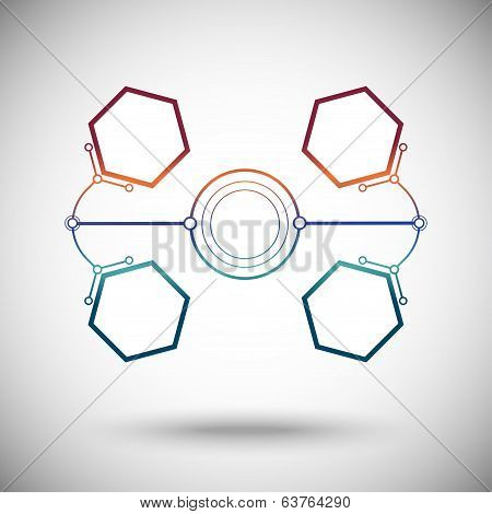 Hexagonal Cells Are Connected To The Main Round Cell