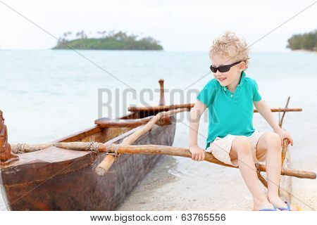 little boy at vacation