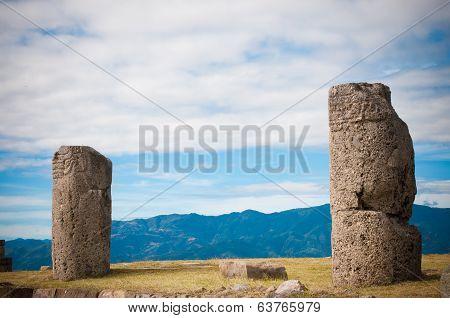 Columns in Monte Alban