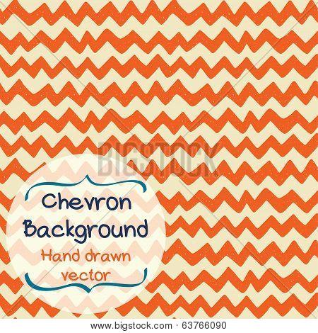 Doodle chevron background