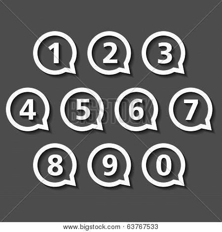 Numbers In Round Speech Bubbles