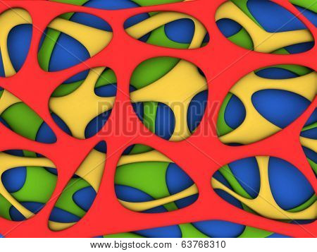 Abstract vibrant colors background 3d illustration