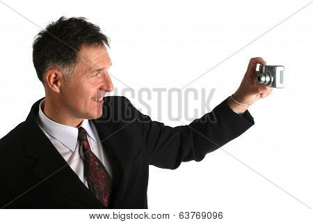 Businessman Taking Pictures