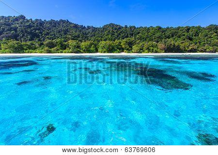 Beach Of Tropical Crystal Clear Sea, Ta Chai Island