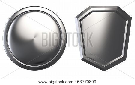 Metal Shields isolated
