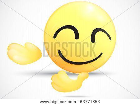 Emoticon bowing down