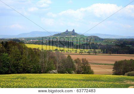 Gothic castle Trosky in Czech Republic
