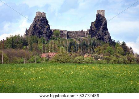 Trosky castle in Czech Republic