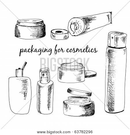 Packaging for cosmetics.