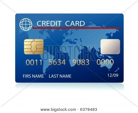 vector realistic credit card
