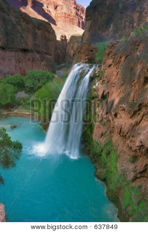 Havasu Falls At Dusk