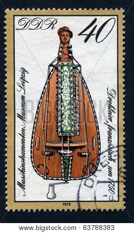 GERMANY - CIRCA 1979: Stamp printed in East Germany showing the image of musical instrument