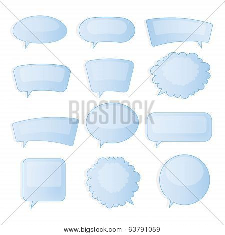 Speech bubbles. Vector set.