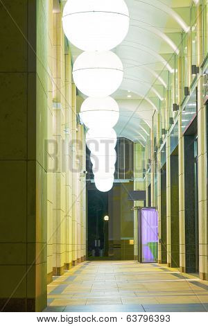 Spherical Lampshades in an Archway
