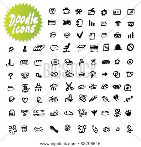Vector dodle icons