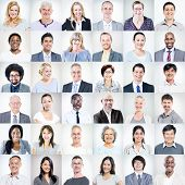 stock photo of ethnic group  - Group of Multiethnic Diverse Business People - JPG